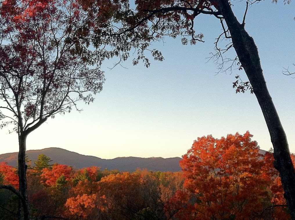 Perfect fall day in the Blue Ridge Mountains
